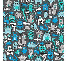 Monsters in Blue Photographic Print