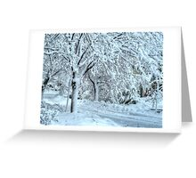 All this snow Greeting Card