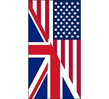 American and Union Jack Flag Photographic Print