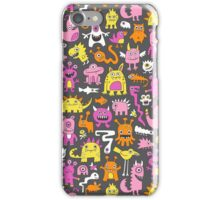 Monsters in Pink iPhone Case/Skin