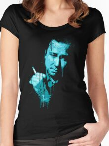 Bill Hicks (blue) Women's Fitted Scoop T-Shirt