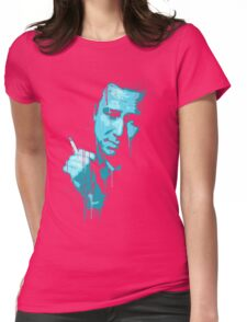 Bill Hicks (blue) Womens Fitted T-Shirt