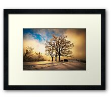 Fire and Ice - Winter Sunset Landscape Framed Print