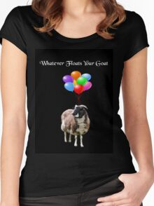 Whatever Floats Your Goat (black) Women's Fitted Scoop T-Shirt