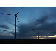 Wind Turbine Sunset #3 Photographic Print