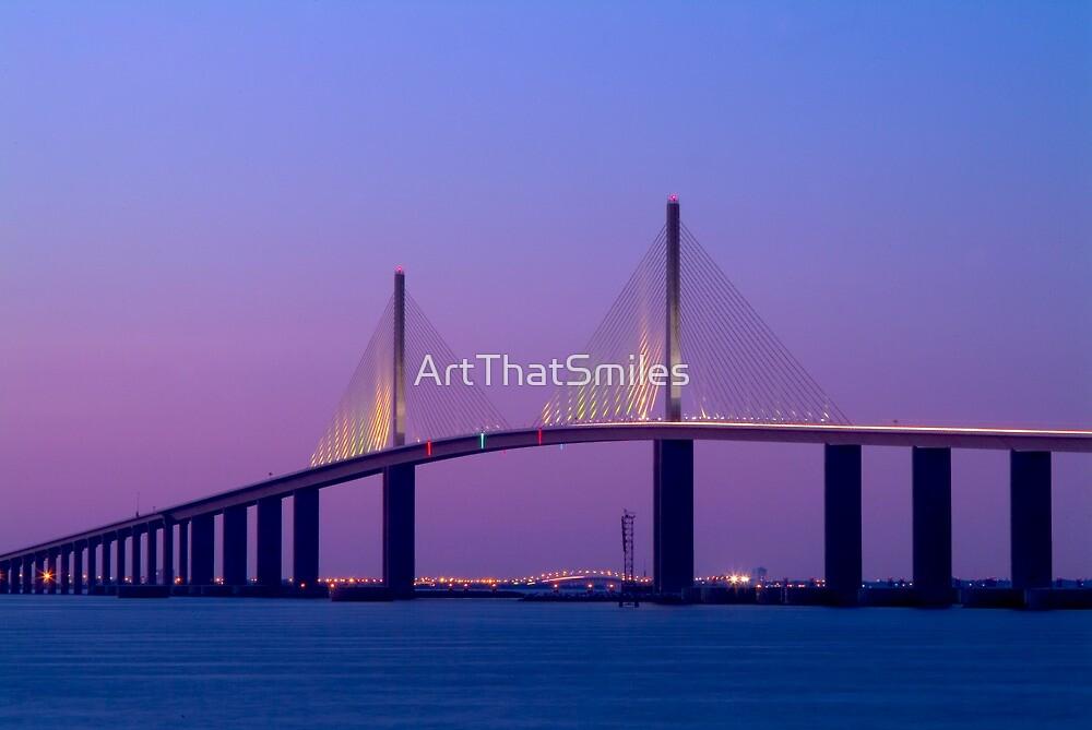 """Sunshine Skyway Bridge"" - bridge over Tampa Bay by ArtThatSmiles"