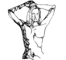 Scribbler-nude by Peter Simpson