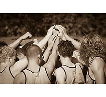 """Team"" - athletes pulling together as a team Photographic Print"