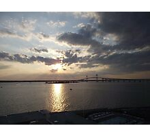 Pell Bridge at Sunset Photographic Print