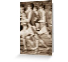 """The Race"" - runners racing by Greeting Card"