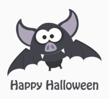 Happy Halloween! Vampire Bat Kids Tee