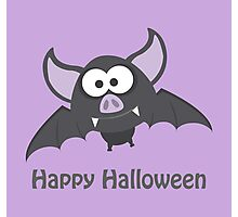 Happy Halloween! Vampire Bat Photographic Print