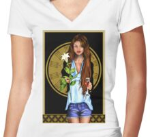 Modern Ages Women's Fitted V-Neck T-Shirt