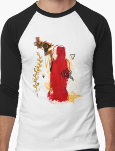 woman in red Men's Baseball ¾ T-Shirt