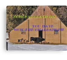 Farm Animals Canvas Print