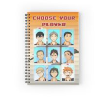 Choose Your Player Spiral Notebook