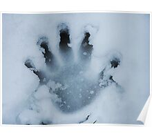 Handprint In The Snow Poster
