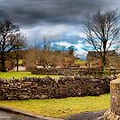 Panorama of Downham Village. by Irene  Burdell