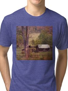 Old Wood and Tin Roof Tri-blend T-Shirt