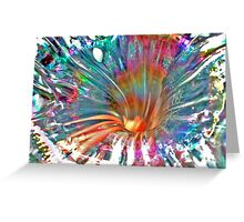 Psychedelic Spiral Greeting Card