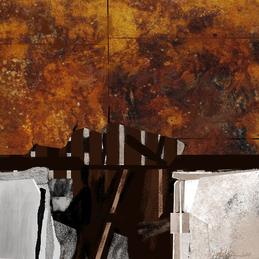 """""""Out In The Barn"""" - Abstract by Patrice Baldwin"""