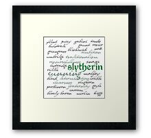 Slytherin House Framed Print
