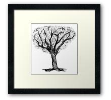 Scribbler Obsessed Tree Framed Print