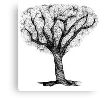 Scribbler Obsessed Tree Canvas Print