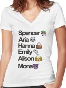 Pretty Little Liars Emoji Women's Fitted V-Neck T-Shirt