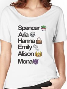 Pretty Little Liars Emoji Women's Relaxed Fit T-Shirt