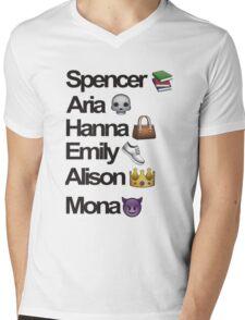 Pretty Little Liars Emoji Mens V-Neck T-Shirt