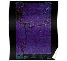 USGS Topo Map Oregon Foley Peak 279913 1985 24000 Inverted Poster
