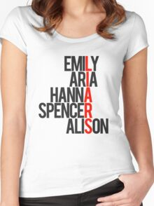 Pretty Little Liars Group Liars Women's Fitted Scoop T-Shirt