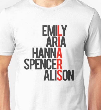 Pretty Little Liars Group Liars Unisex T-Shirt