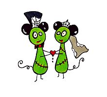 Zombie mouse wedding  by BlondieZombie