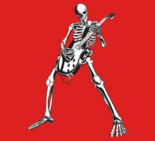 Skeleton Bones Dead Electric Guitar Player by SonicContours