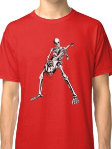 Skeleton Bones Dead Electric Guitar Player Classic T-Shirt