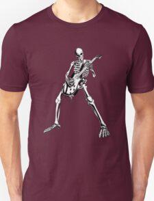 Skeleton Bones Dead Electric Guitar Player Unisex T-Shirt