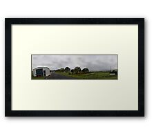 Community Fire Shed Framed Print