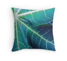 Blue Papaya Throw Pillow
