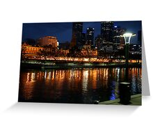 Night Lights. Greeting Card