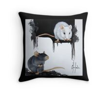 Smarties and Lulu Throw Pillow