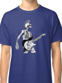 Skeleton Bones Dead Electric Guitar Player 2 Classic T-Shirt