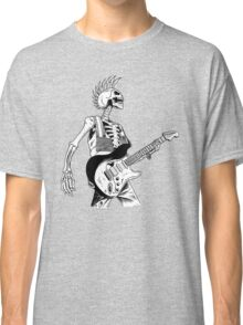 Skeleton Bones Dead Electric Guitar Player 2 Classic T-Shirt