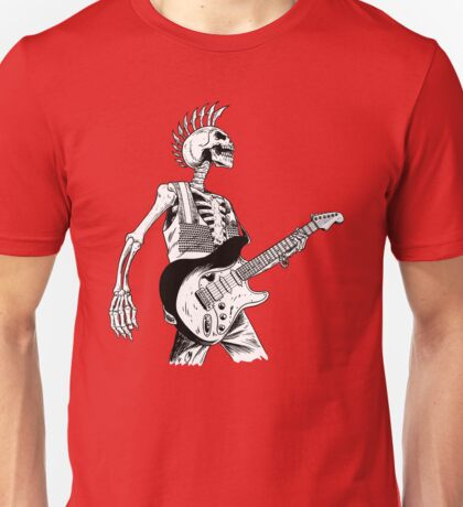 Skeleton Bones Dead Electric Guitar Player 2 Unisex T-Shirt