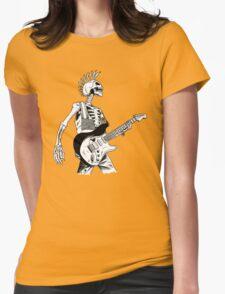 Skeleton Bones Dead Electric Guitar Player 2 Womens T-Shirt