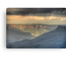 Silence - Jamison Valley, Blue Mountains World Heritage Area - The HDR  Experience Canvas Print