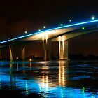 Brisbane River Flood -  Gateway Bridge  by Jaxybelle