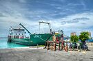 Cargo boat at Potter's Cay loading freight to deliver in the Family Island - Nassau, The Bahamas by Jeremy Lavender Photography