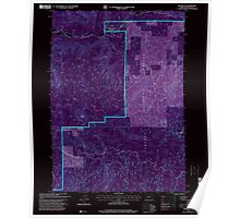 USGS Topo Map Oregon Red Butte 281239 1997 24000 Inverted Poster